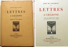 DE GOURMONT/LETTRES A L'AMAZONE/ED CRES/1914/EO/NATALIE CLIFFORD BARNEY
