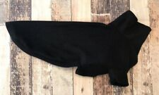 """Black Greyhound Pajamas- 28"""" Back, Sighthound Fleece Pjs, Large Dog Sweater"""