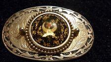 Awesome Vintage collectible Masonic Emblem in Gold Flake Belt Buckle Free Masons