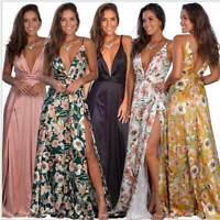 Evening Long Dress Sundress Beach Boho Maxi Party Summer Women's Cocktail Floral