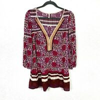 Free People Womens Long Sleeve Blouse Floral Tunic M