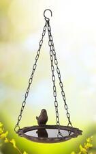Cast Iron Hanging Bird Bath Feeder Vintage Bronze Decorative Garden Ornament