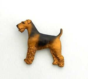 Dog Show Breed Brooch - Airedale Terrier