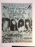 Dallas Texas 1980's Metal Band Flyer CHAZA RETTA MTV Commercial Filmed