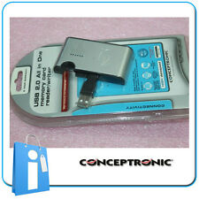 Lector Tarjetas USB 2.0 con Conceptronic Slot Card Reader
