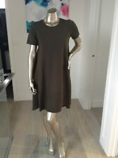 Decjuba oilve green stretch loose style dress size small Fits 6-8 Excellent Con