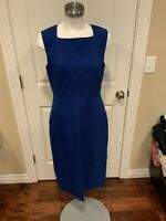 Jason Wu Blue Sleeveless Sheath Dress, Size 10 (US)