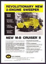 "1971 M-B Cruiser II Street Sweeper photo ""Proven Performance"" vintage print ad"