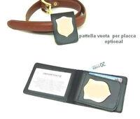 Portafoglio Vega Holster in pelle 1WE compatibile con pattella per placca