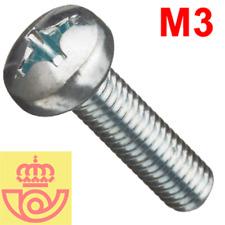 (lote 20pcs) Tornillo acero M3 16mm cabeza Philips (Arduino, prototipos, PCB)