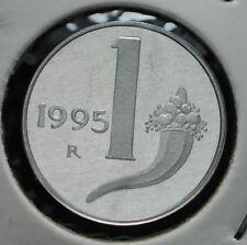1995  Repubblica Italiana 1 lira  FONDO SPECCHIO  da divisionale