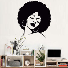 Hair Spa Salon DIY Fashion Lady Wall Stickers Vinyl Home Room Decal Wallpaper