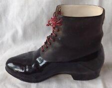 très jolie bottillon chaussure ancienne XIX ème biscuit noir avec lacet