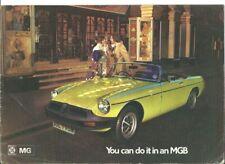 MGB Brochure 1974