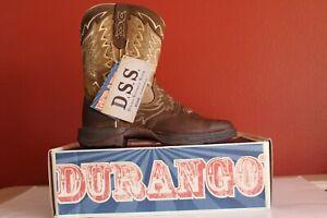 Durango Rebel DDB0125 Women Dark Brown Faded Brown DSS Square Toe Western Boots
