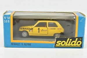 Solido Renault 5 Alpine Elf Facom Race Car #58 1:43 NIB France
