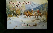 Leanin' Tree 20 Fine Art Christmas Cards From our Outfit to Yours Cowboy Horses