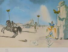 "SALVADOR DALI "" TIMELESS "" HAND NUMBERED PLATE SIGNED LITHOGRAPH"