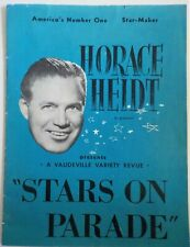 """Horace Heidt """"Stars on Parade"""" Autographed by several cast members!"""