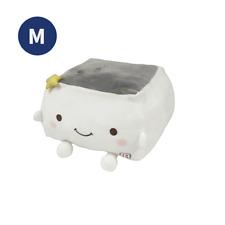 Tofu Cushion Hannari Star Series Gray Stuffed Toy Cushion Size M Japan Gift