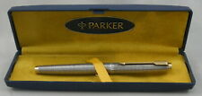 Parker 75 Sterling Silver Cisele Fountain Pen In Box - c.1972 - 14kt M Nib - USA