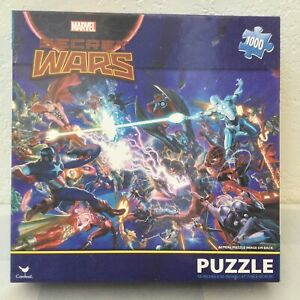 Marvel Avengers SECRET WARS Collage 1000 Piece Jigsaw Puzzle NEW SEALED Cardinal