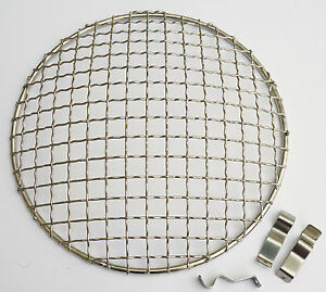 """Stainless Steel 7"""" Headlamp Grill / Stone Guard for Classic Mini Triumph MG etc"""