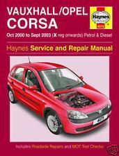 Haynes Vauxhall / Opel Corsa PTOM 2000-sept 03 x reg partir essence et diesel