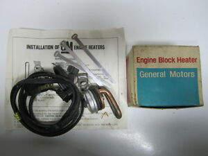 62-67 Vauxhall Envoy Engine Block Heater NOS 992090
