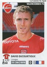 N°466 DAVID DUCOURTIOUX # FC.VALENCIENNES VIGNETTE STICKER  PANINI FOOT 2013
