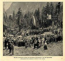 Bad Gastein Feier zum Beginn der Tauernbahn erster Spatenstich Bilddokument 1901