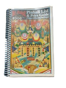 Mr. Pinball Pinball List & Price Guide Flipper Baseball Bingo 2008 Edition