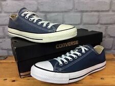 CONVERSE UK 9 EU 42.5 NAVY BLUE CHUCK TAYLOR ALL STAR LOW TOP CANVAS TRAINERS LG