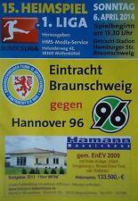 Programm 2013/14 Eintracht Braunschweig - Hannover 96