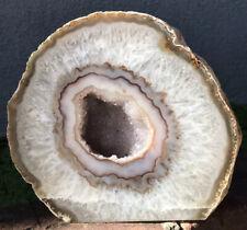 "6"" Amethyst Geode Quartz Crystal Reiki Feng Shui Purple White Mantle Decoration"