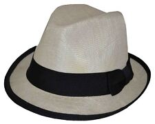 MLN Linen Youth Size Fedora 8~20 S/M 57~58cm Natural