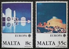 Europa, modern architecture stamps, 1987, Malta, SG ref: 800 & 801, 2 stamps MNH