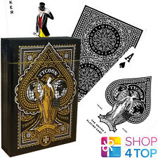 TYCOON BLACK THEORY 11 PLAYING CARDS DECK GOLD MAGIC TRICKS SEALED USA NEW