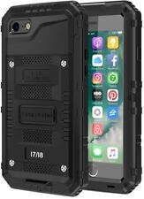 iPhone 8/7 Case Full Body Protection Metal Cover Waterproof Heavy Duty (Black)