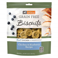 1 Pound Bag - Simply Nourish Grain Free Biscuits Chicken & Blueberry Recipe Bag