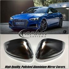 New Audi A5 B9 S5 2016-2017 Polished Aluminium Mirror Covers S5/S-Line Style