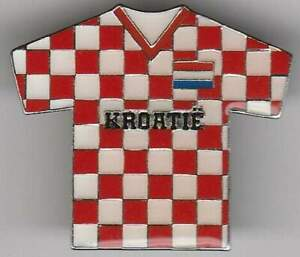 Pin metaal / metal - Voetbal / Footbal Shirt - Kroatië