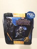 """Marvel Avengers - Black Panther Cuddly Silky Soft Throw Blanket 40"""" x 50"""" - New"""
