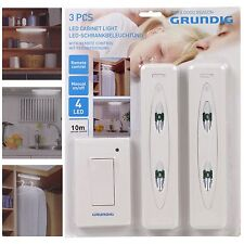 Grundig Remote Control Wireless Wall Ceiling Under Cabinet 4 LED Lights Kitchen