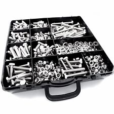 1160 pcs M5 ASSORTED BOLTS NUTS AND WASHERS KIT SET A2 STAINLESS DIN 933