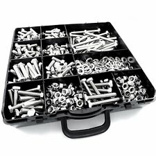 560pcs M6 ASSORTED BOLTS NUTS AND WASHERS KIT SET A2 STAINLESS DIN 933