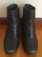 "CLARKS ""Artisan"" Black Leather Short Heeled Boots Size US/AU8W"