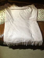 John Lewis Pink Chenille Throw New No Tags