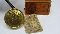 Antique Vintage Padlock Miller Number Clicks Combination Lock Keyless Box USA ✔