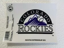 "Colorado Rockies 3"" x 4"" Small Static Cling - Truck Car Auto Window Decal NEW"